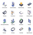 augmented reality isometric icons vector image vector image