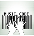Barcode as music vector image vector image