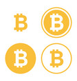 bitcoin icon set vector image