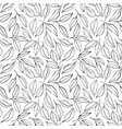 black brush outline leaves and twigs pattern vector image