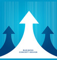 business concept leadership design with arrow vector image vector image