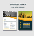 business flyer layout background vector image vector image