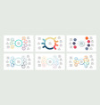 business infographics organization charts with 7 vector image vector image
