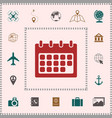 calendar symbol icon elements for your design vector image