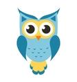 Cartoon blue owl icon vector image vector image