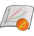chart and bitcoin vector image