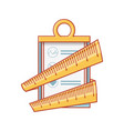 checklist clipboard with tape measure vector image