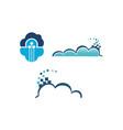 cloud technology template set vector image