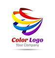 Colorful 3d Volume Logo Design Icon Concept vector image vector image