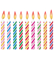 colorful birthday candles vector image