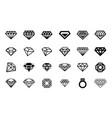 concept of diamond logo icon vector image vector image