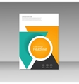 cover design for brochure template vector image vector image