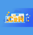 crm customer relationship management concept vector image vector image
