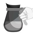 delicious coffee teapot drink vector image