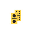 domino dice line icon linear style sign vector image vector image