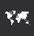 doodle world map on black background vector image vector image