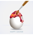 Easter egg painted vector image vector image