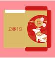 envelope reward happy new year 2019 chinese vector image