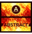 flyers templates with orange abstract geometry vector image vector image