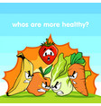 fruits vs vegetables vector image vector image
