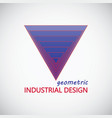 geometric industrial design logo vector image vector image