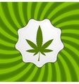 Green retro cannabis design element vector image