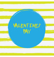 grunge happy valentines day vector image