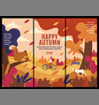 happy autumn thanksgiving banner design vector image vector image