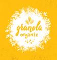 healthy vegan snack granola cereal vector image vector image