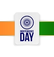 India Independence Day Holiday Card Template vector image