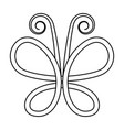 intertwining contours graceful butterfly vector image