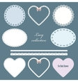 Lacy doilies vector image vector image