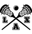 lax on white background vector image vector image