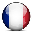 Map on flag button of French Republic France vector image vector image