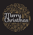 merry christmas for winter holidays greeting card vector image vector image