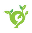 o letter ecology nature element icon vector image vector image