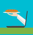 on line food delivery vector image vector image