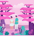 people and nature flat outing vector image