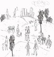 People in Park vector image