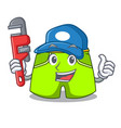 plumber fashion short pants isolated on mascot vector image