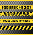 police line do not cross tapes vector image vector image