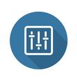 Power Slider Icon Flat Design vector image