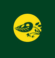 prehistoric plant logo clip art vector image