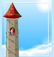 princess in castle vector image vector image
