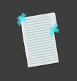 realistic blank note color paper with color sticky vector image vector image