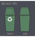 RecycleBin vector image vector image