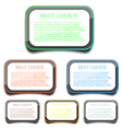 rounded rectangle frames vector image vector image