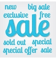 sale titles vector image vector image