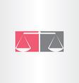 scales justice symbol design vector image