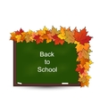School Board with Maple Leaves vector image vector image